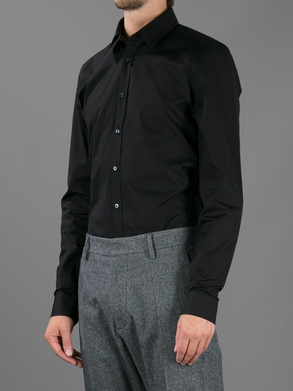 Lyst Gucci Button Down Shirt In Black For Men