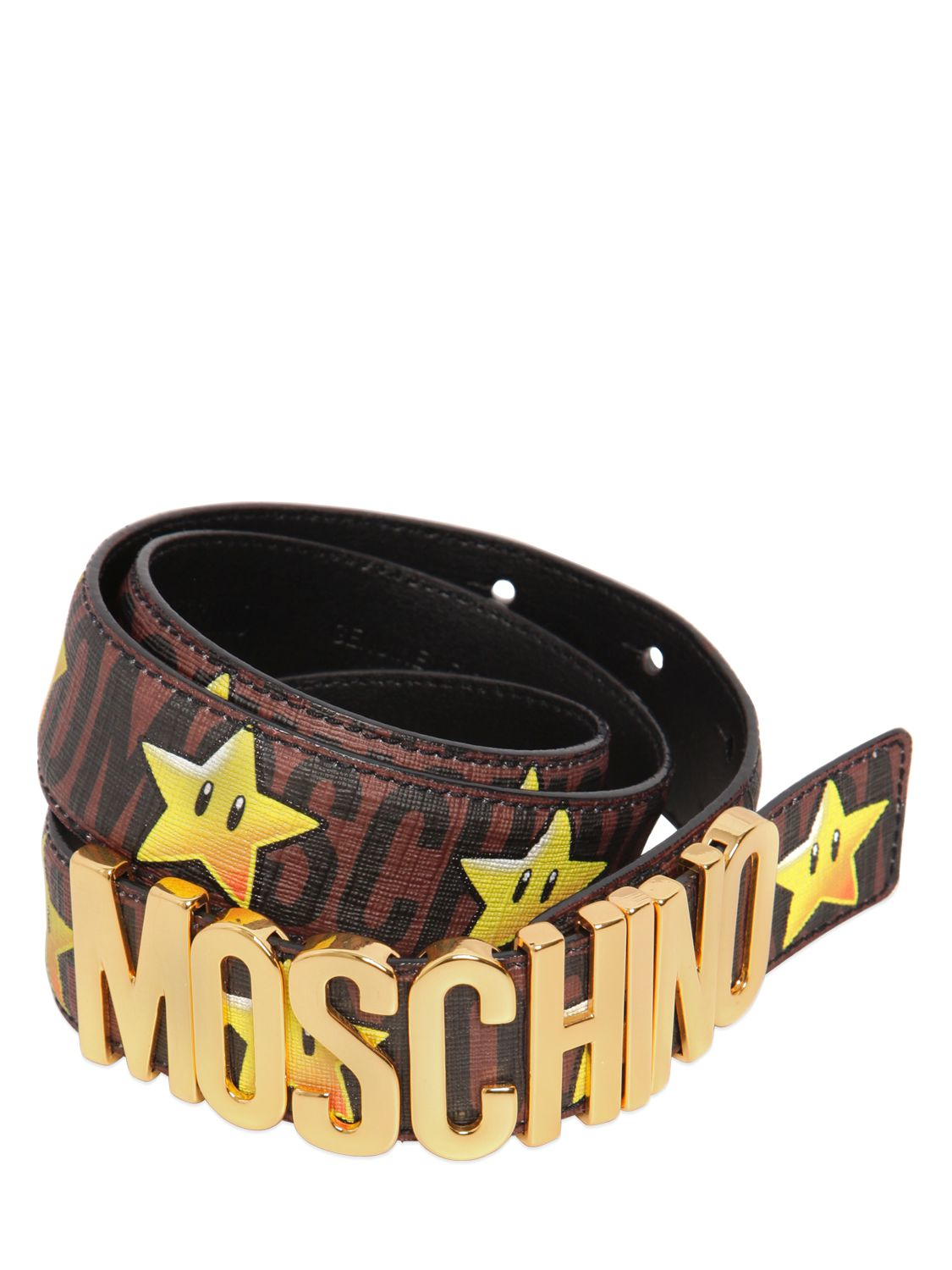 234e0db11c Moschino 35mm Super Faux Leather Belt in Yellow for Men - Lyst