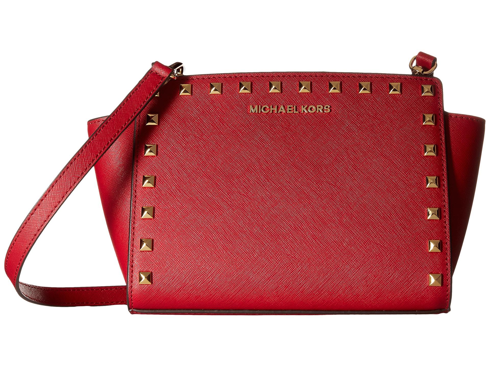 e1b9092b36 Lyst - MICHAEL Michael Kors Brooklyn Medium Grommet Saddle Bag in Red