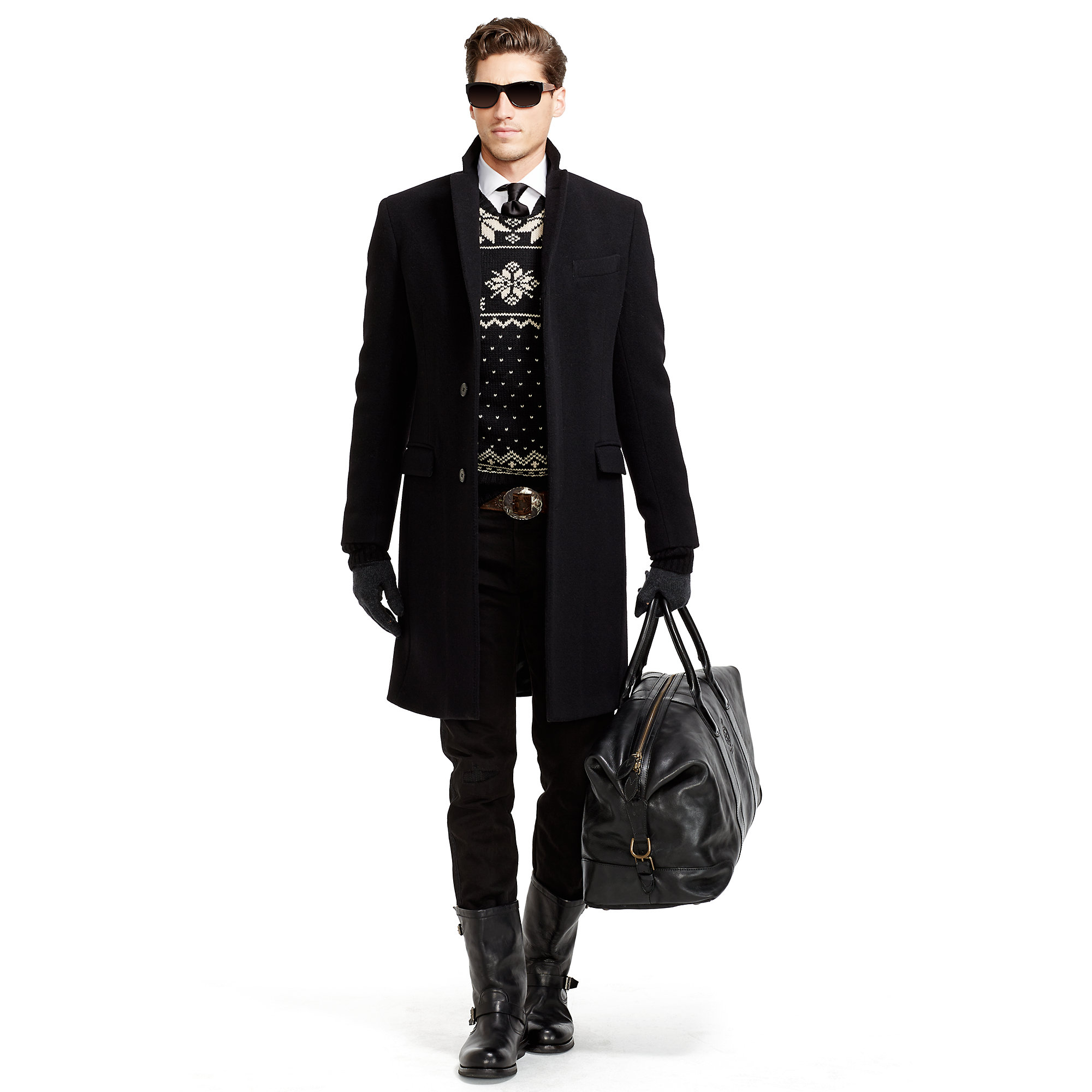 7a1d63911f11 Lyst - Polo Ralph Lauren Leather Duffel Bag in Black for Men