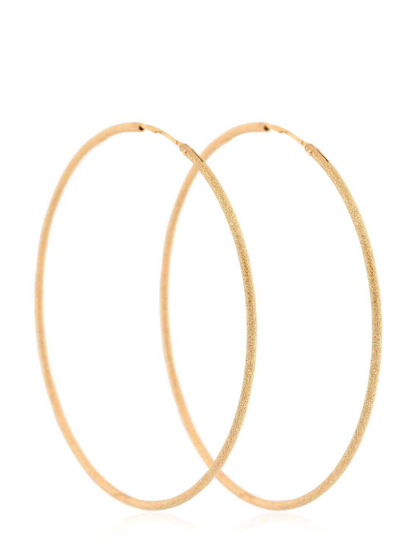 Lyst Maria Francesca Pepe New Moon Thin Hoop Earrings In