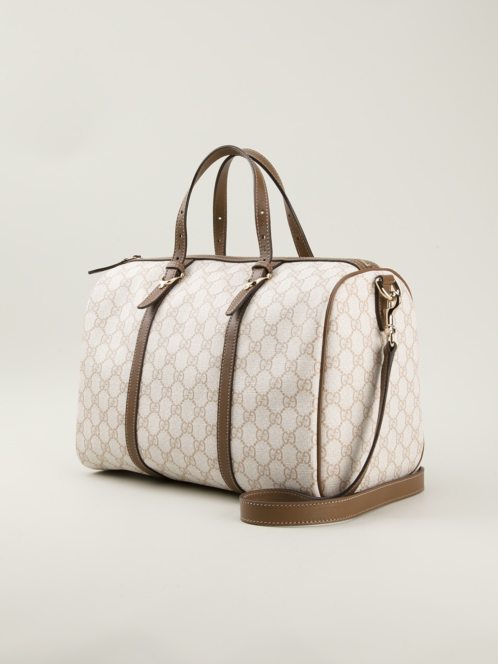 320232c8618c Lyst - Gucci Boston Bowling Bag in Natural