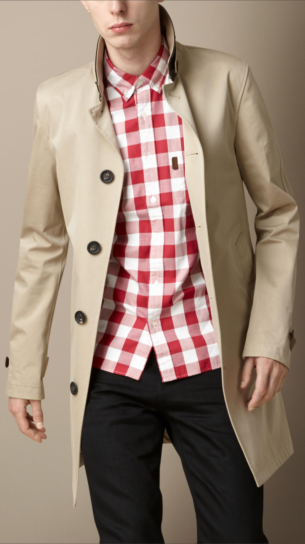 Burberry Seam Sealed Technical Cotton Car Coat in Natural for Men