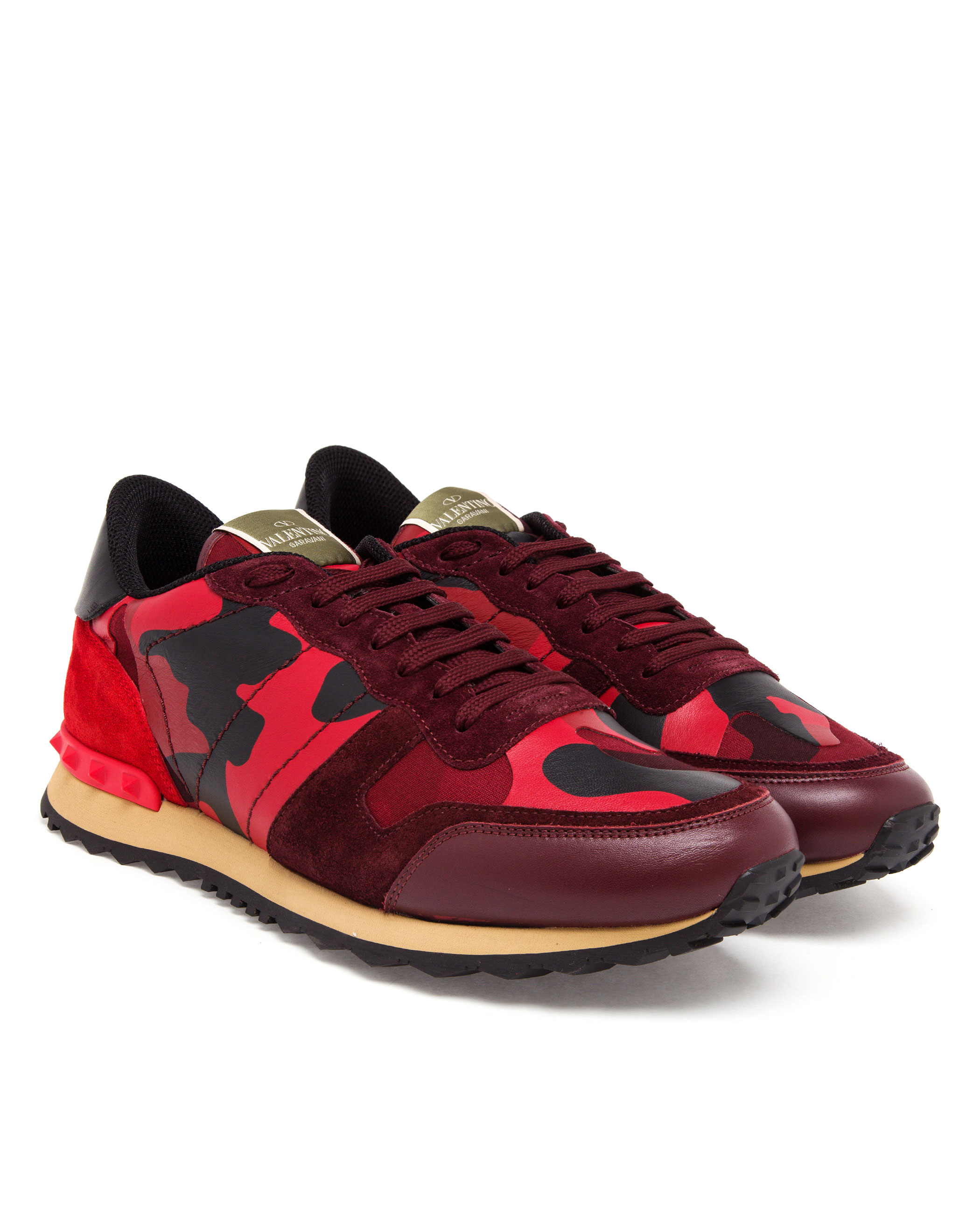 valentino camouflage sneakers in red for men lyst. Black Bedroom Furniture Sets. Home Design Ideas