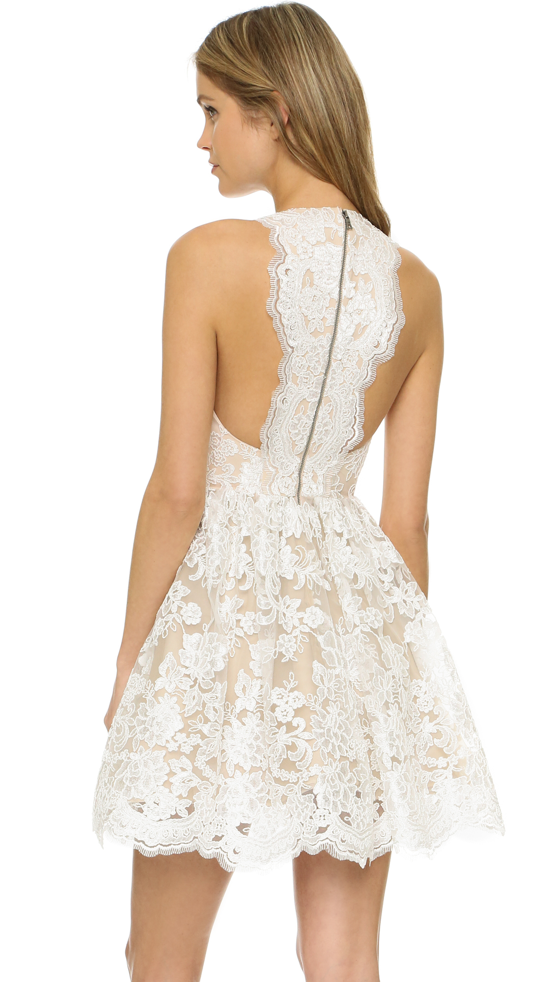 470f237f03cf Alice + Olivia Ladonna Party Dress in White - Lyst