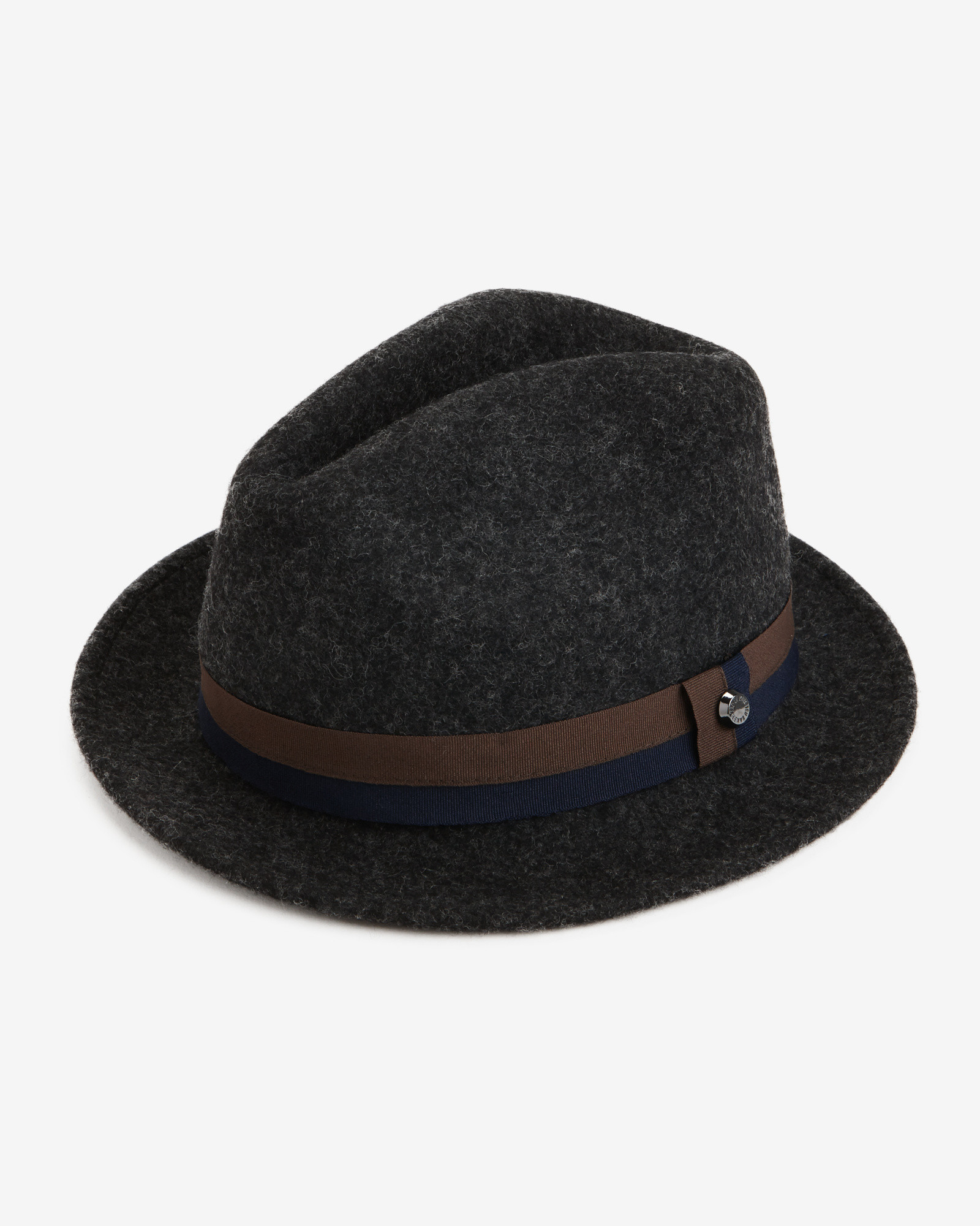 360b53fec4a Ted Baker Moulded Wool Trilby Hat in Gray for Men - Lyst