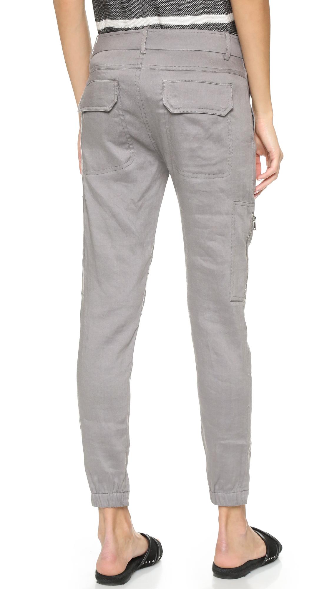 e9fd4651a2 Lyst - Vince Linen Cargo Pants