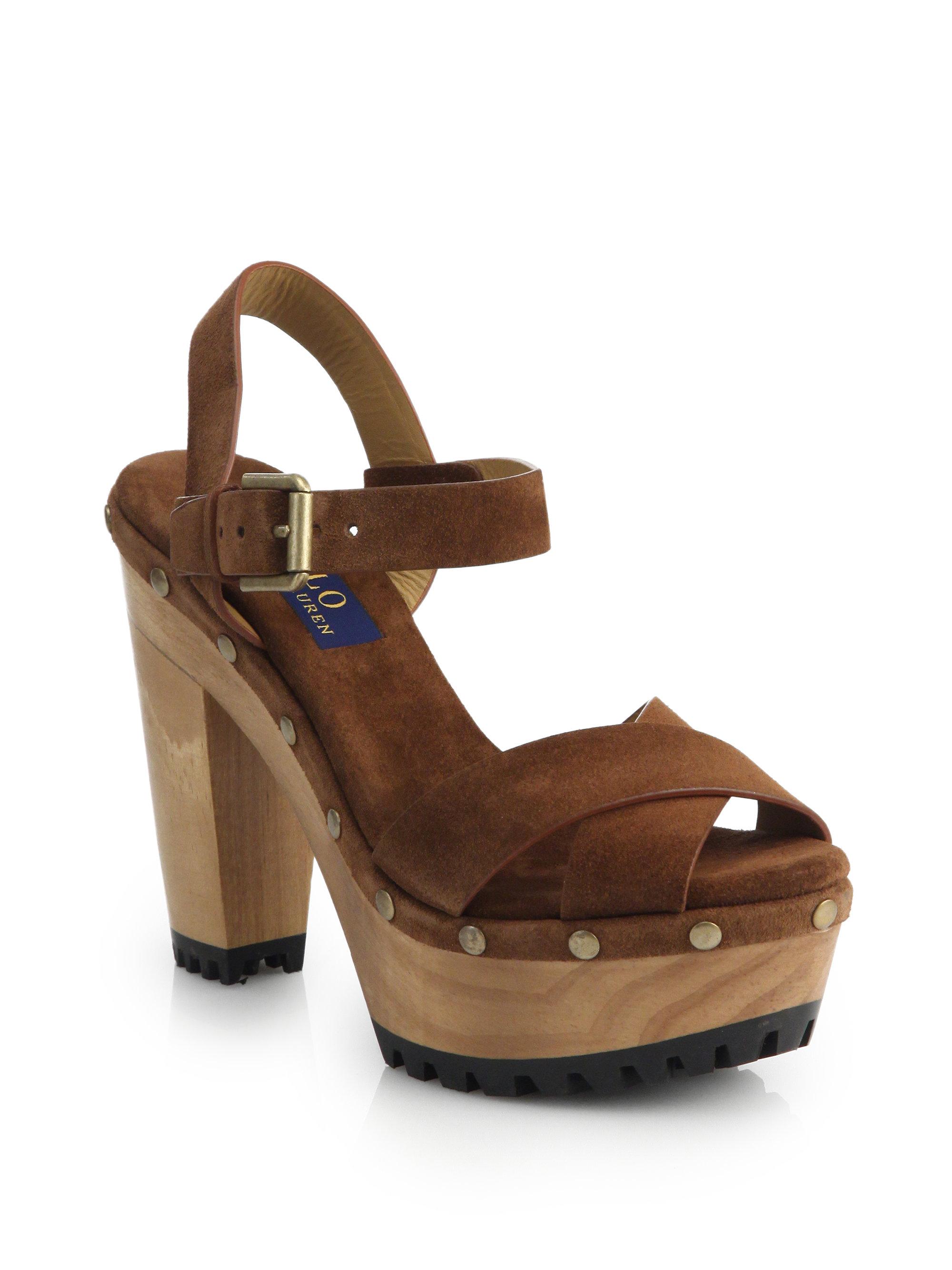 d04347506707 Lyst - Polo Ralph Lauren Lacie Clog Sandals in Brown