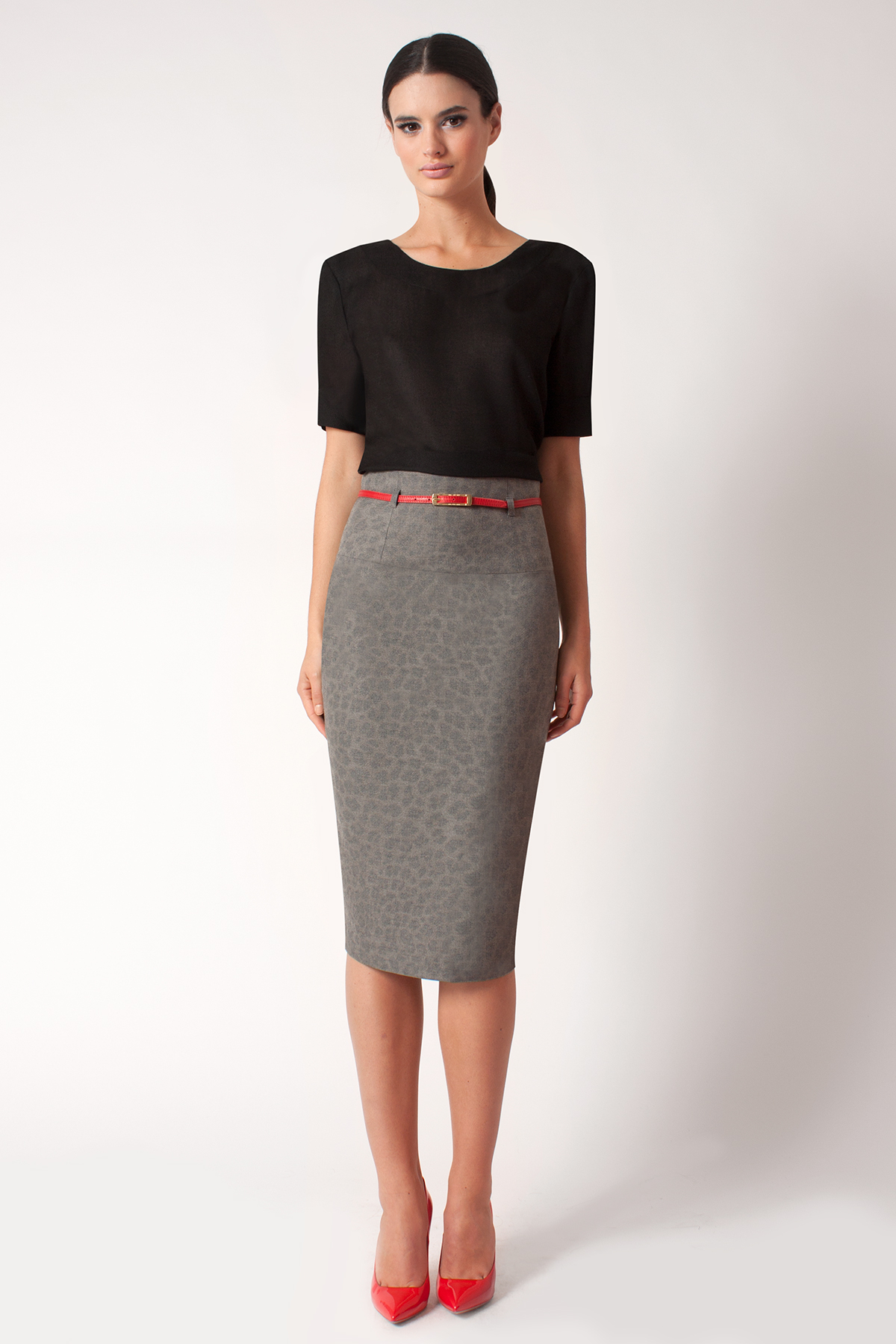 ... | Natural Cheetah High Waist Pencil Skirt *online Exclusive* | Lyst