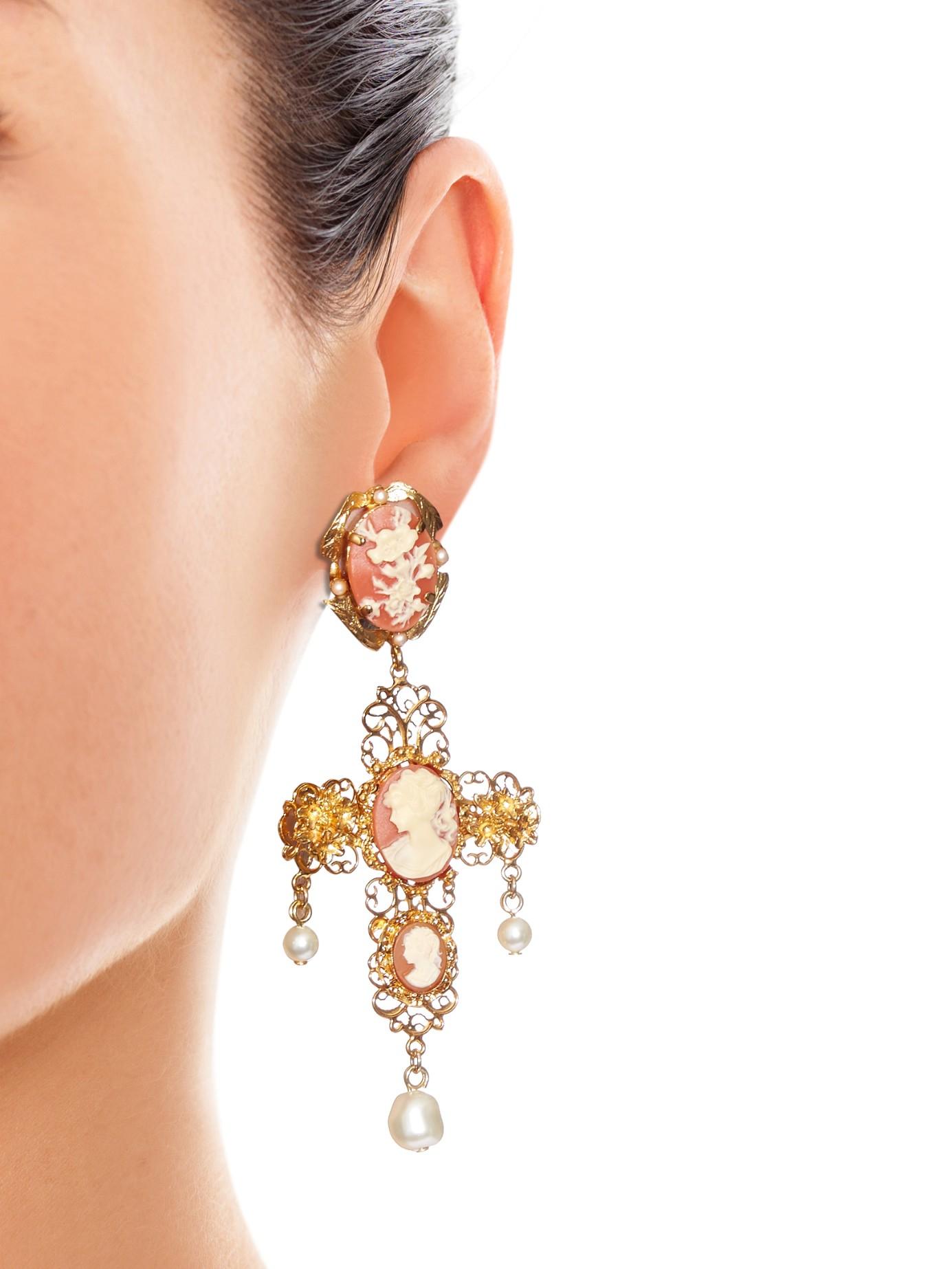 Dolce & Gabbana Crystal-embellished clip-on earrings hOrkYeQYM