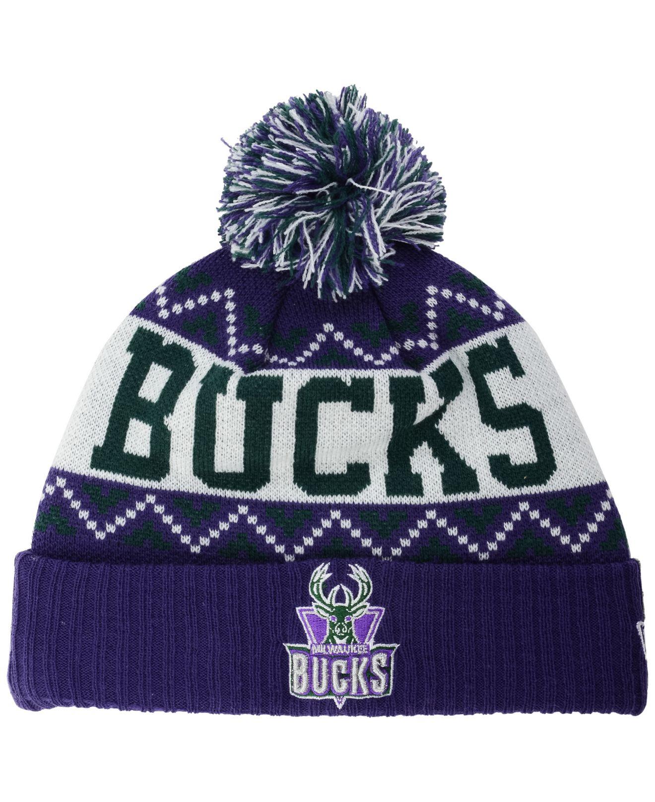 51daa2ec7 shop milwaukee bucks beanie purple 8fdc3 7ad0f