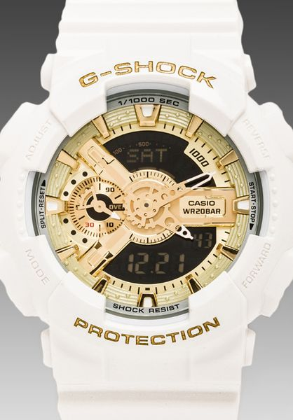 white and gold white and gold g shock