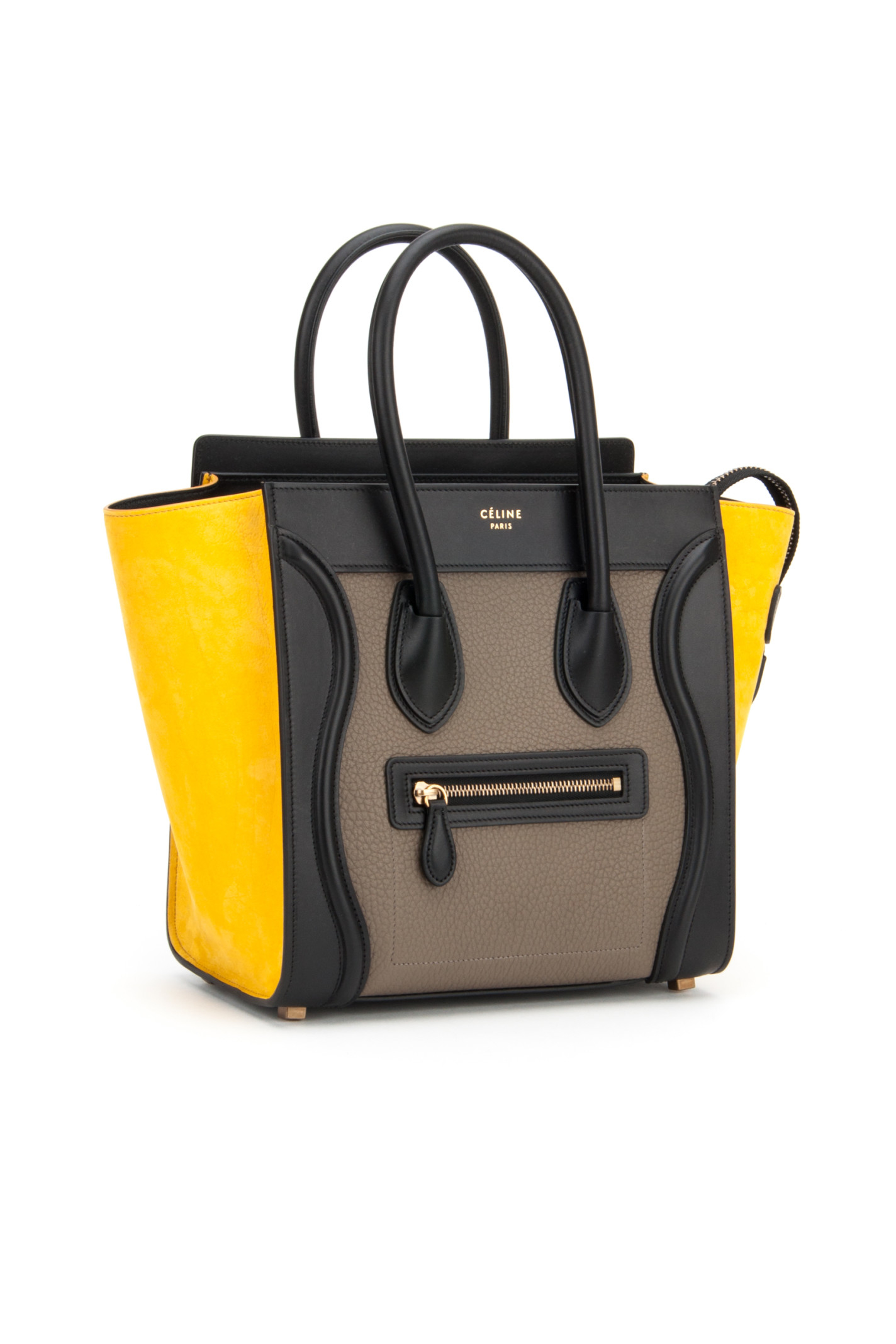 C¨¦line Multicolor Micro Luggage Bag in Gray (AMBER) | Lyst