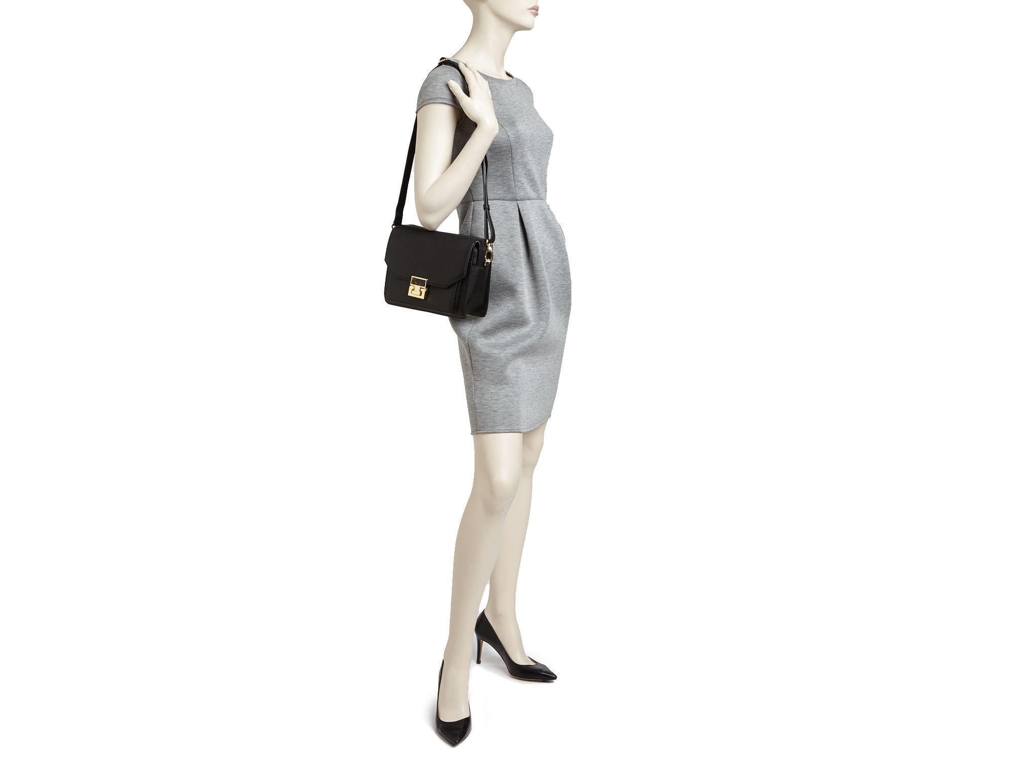 97d57d45d61 Ivanka Trump Hopewell Top Zip Shoulder Bag in Black - Lyst