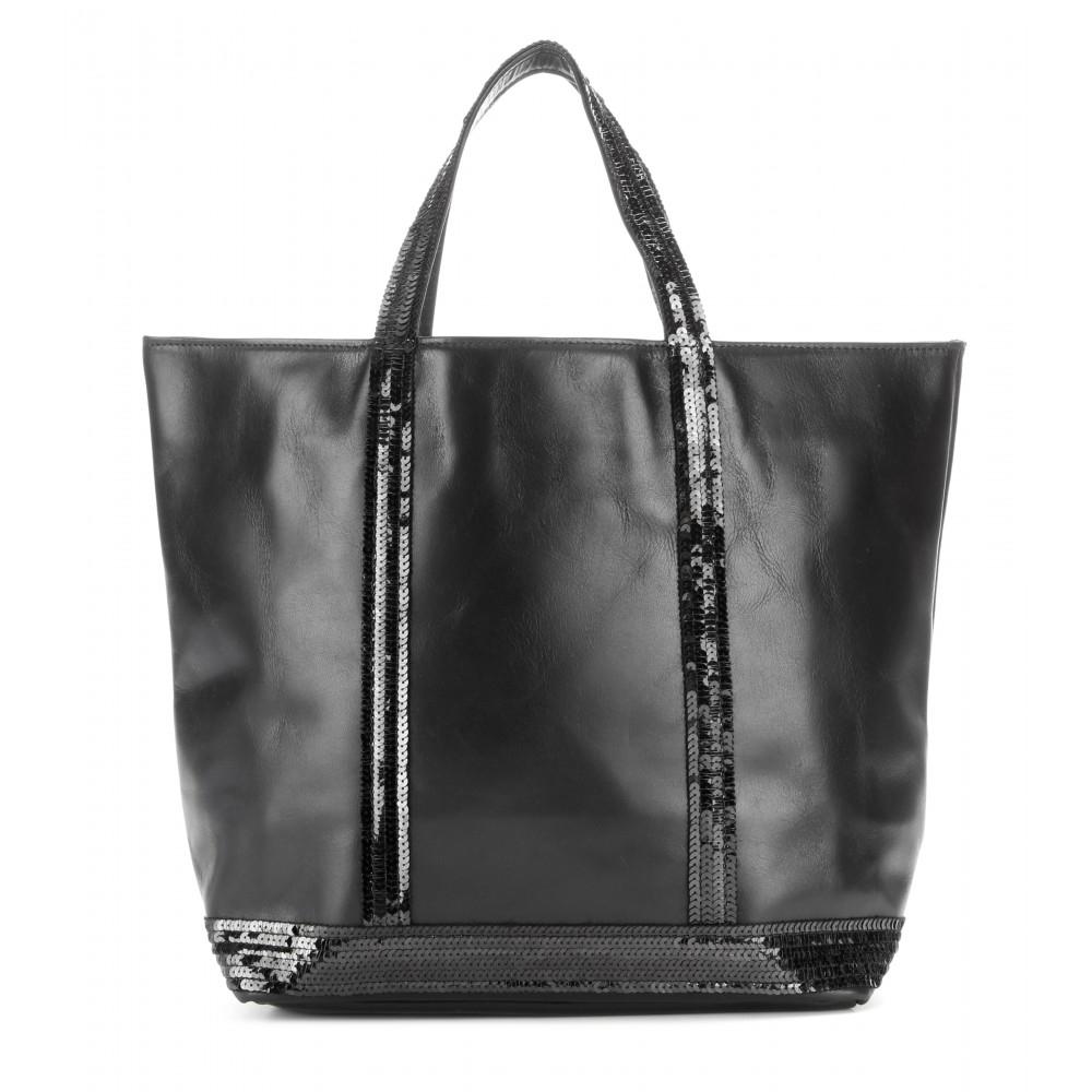vanessa bruno cabas medium embellished leather shopper in black lyst. Black Bedroom Furniture Sets. Home Design Ideas