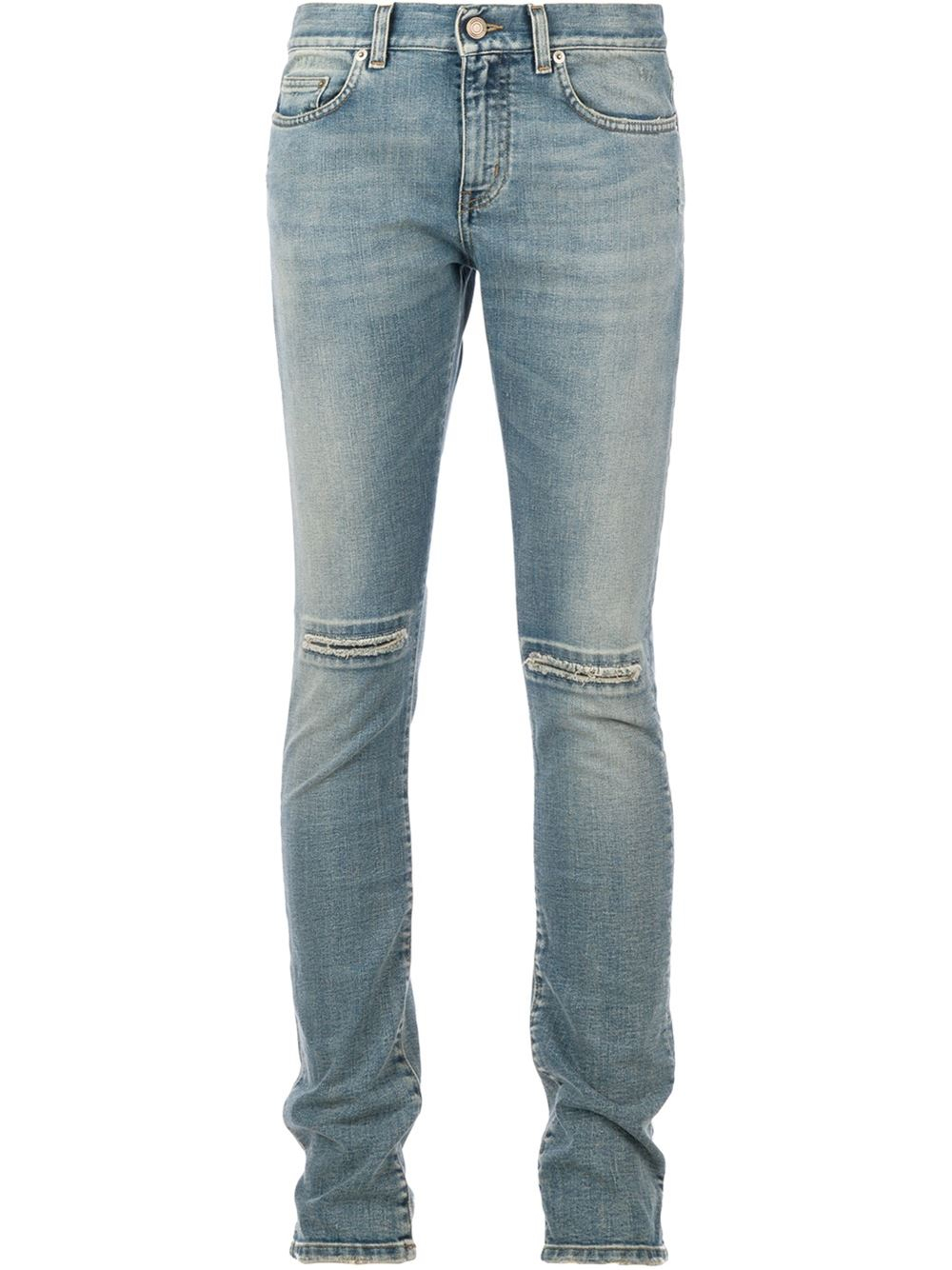 saint laurent stone washed jeans in blue for men lyst. Black Bedroom Furniture Sets. Home Design Ideas