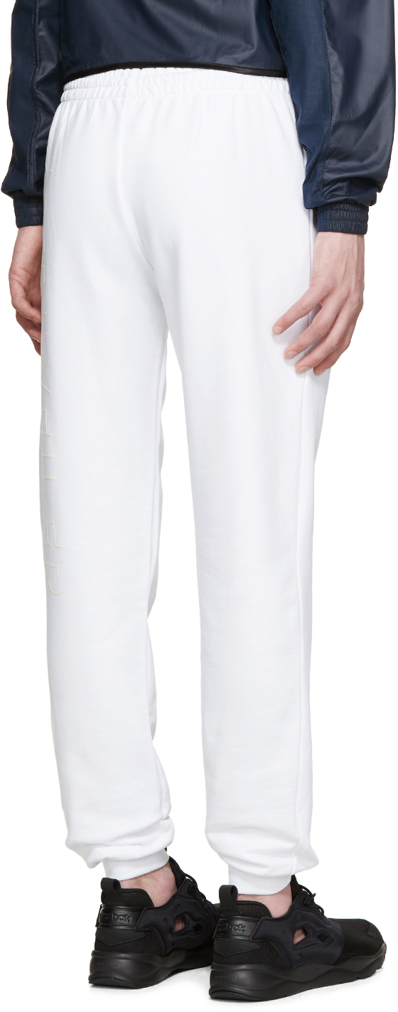 cottweiler white logo pure lounge pants in white for men lyst