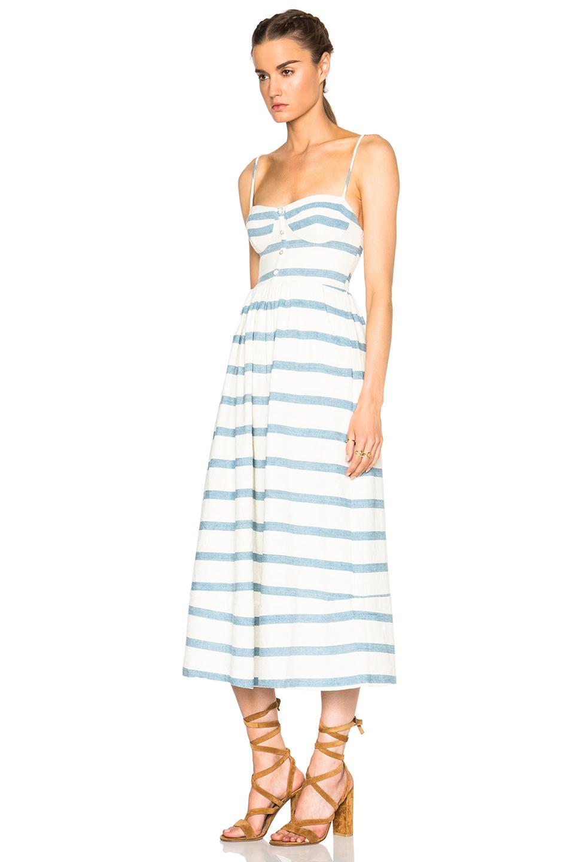 flared midi dress - White Mara Hoffman Vb9ImOVMD