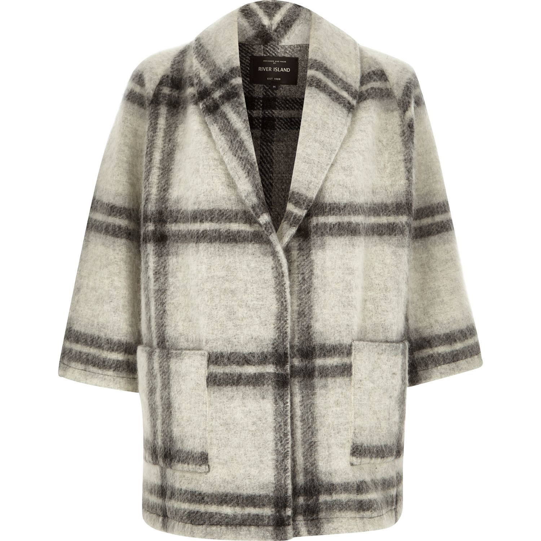 Grey pea coats for women
