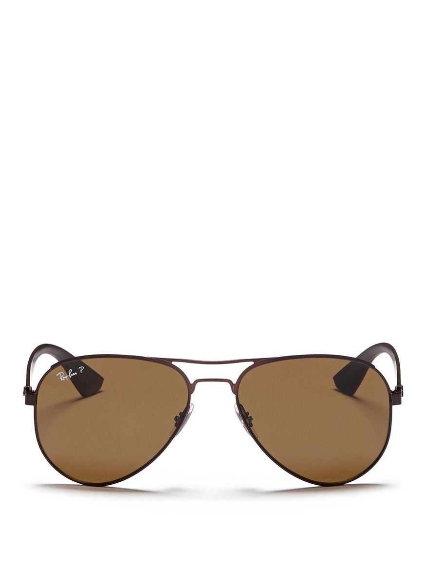 a90fc7fcd6ebb Gallery. Previously sold at  Lane Crawford · Men s White Sunglasses Men s  Ray Ban Chris Men s Brown ...