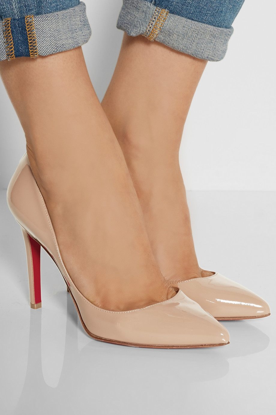 Lyst - Christian Louboutin The Pigalle 100 Patent-Leather Pumps in Pink 68f5eb4208af