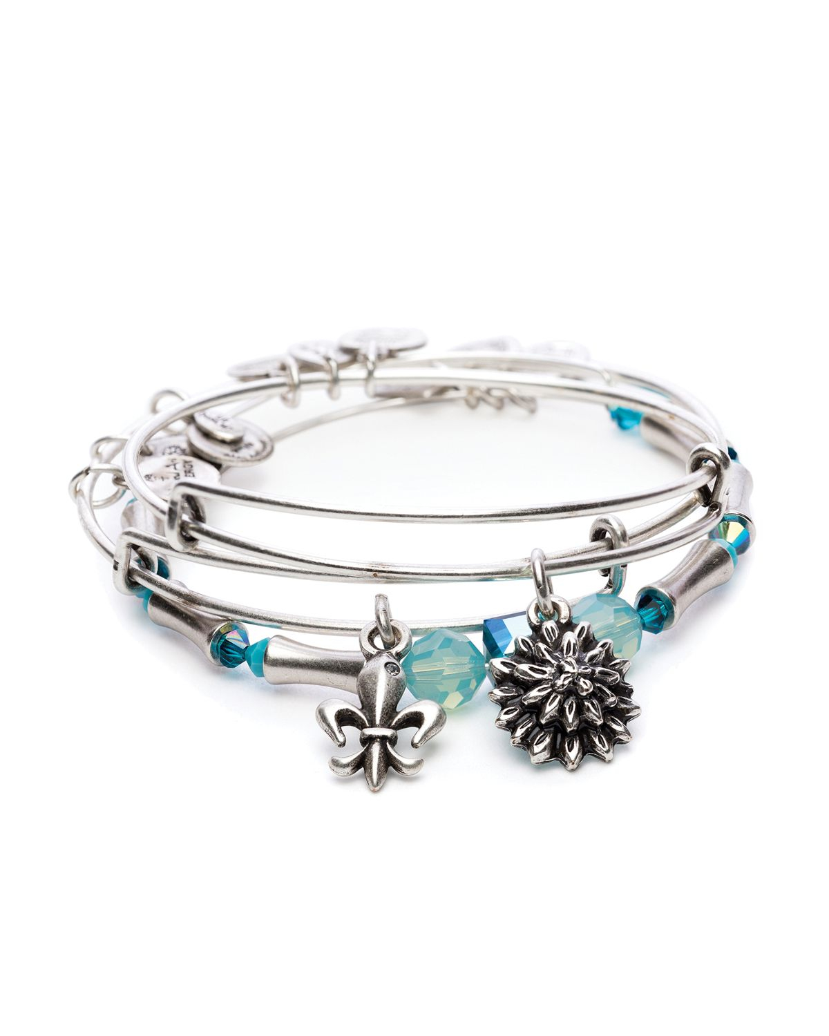 alex and ani strength in bloom set of 3 expandable
