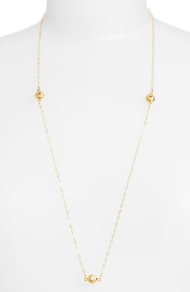 ki ele sea urchin station necklace in metallic lyst