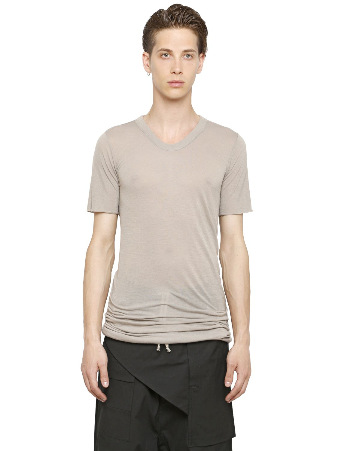 Crew-neck jersey T-shirt Rick Owens 2018 Newest Brand New Unisex Cheap Price From China Free Shipping Ebay nzWLgDlj