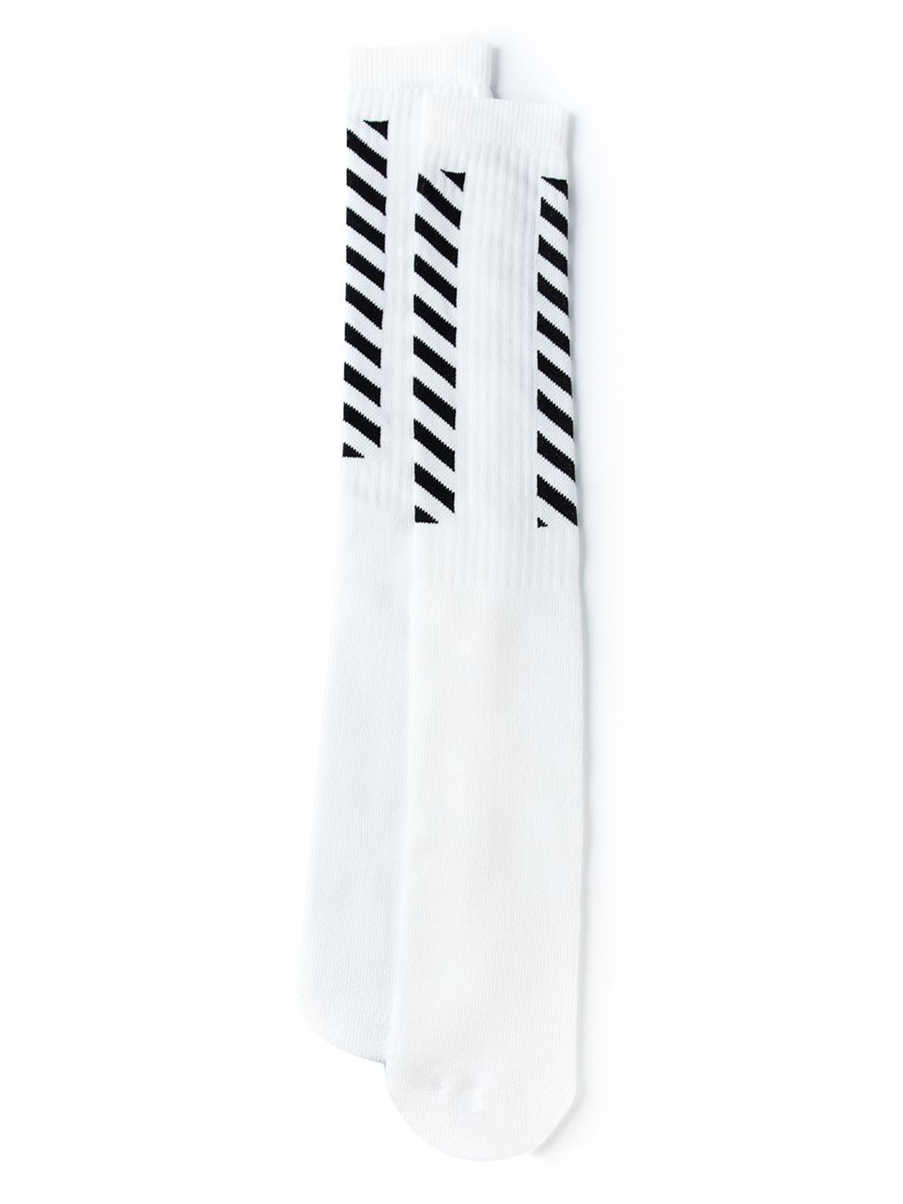Latest Collections Cheap Online Inexpensive For Sale slogan long socks Off-white Outlet kNLScP067E