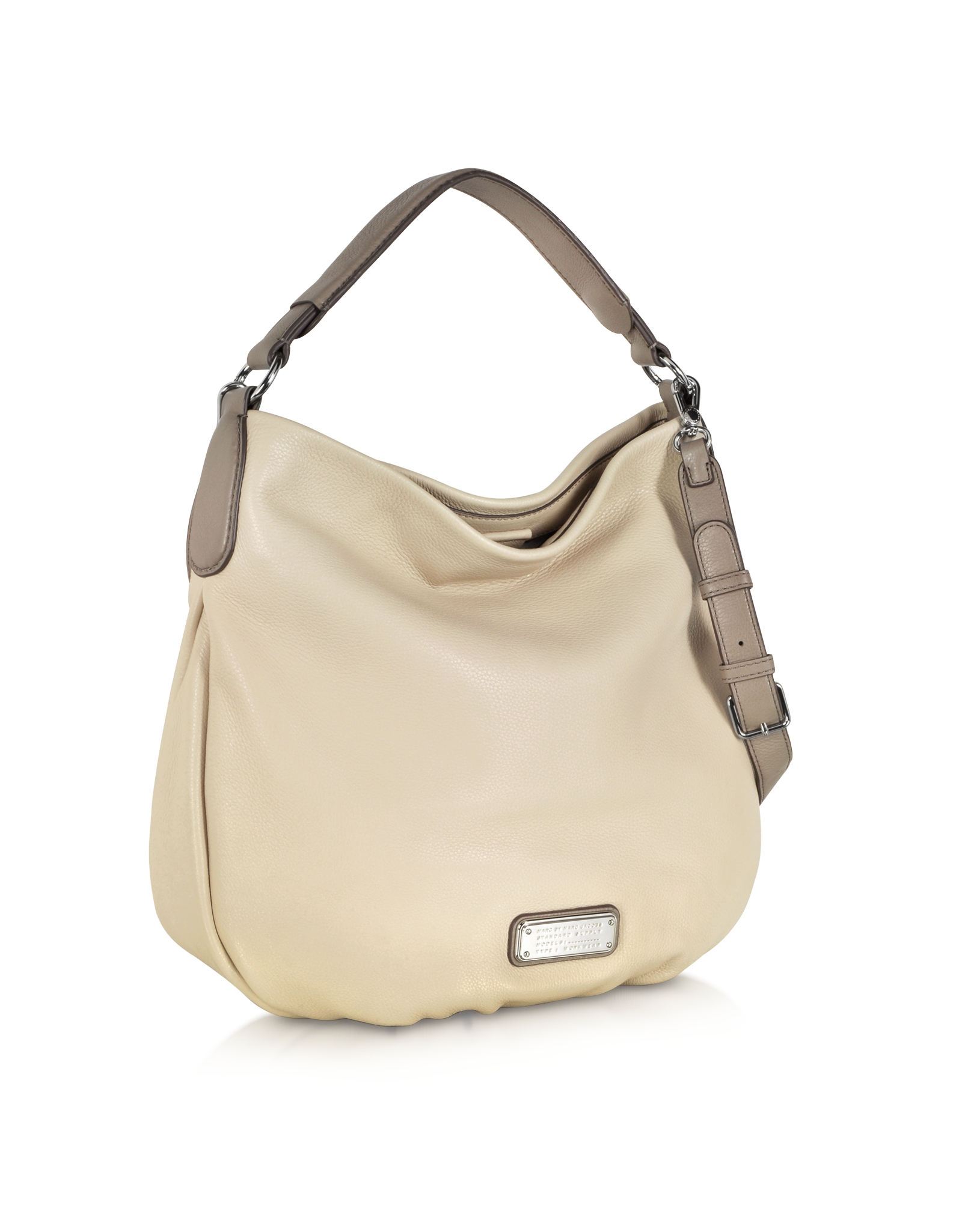 93d39ced831e Lyst - Marc By Marc Jacobs New Q Hillier Sand Leather Hobo in Natural