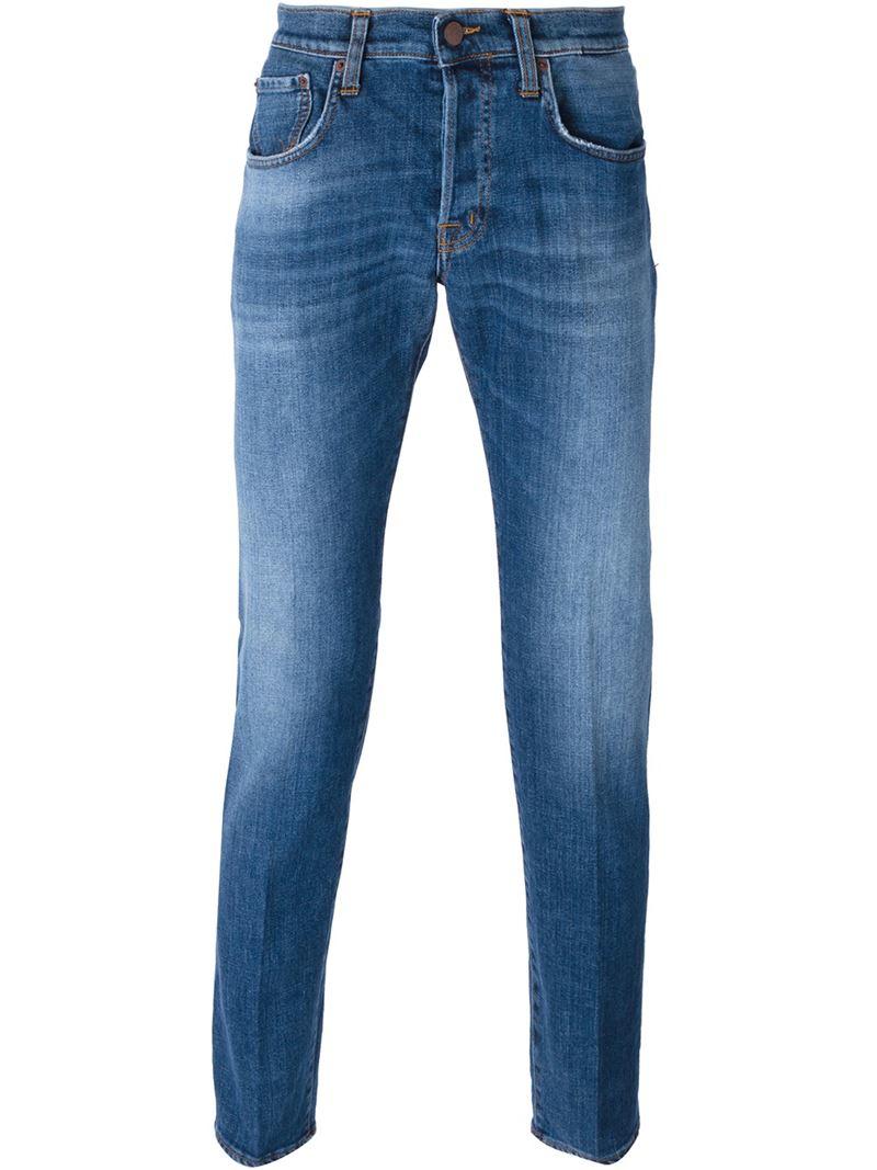 lyst people regular fit jeans in blue for men. Black Bedroom Furniture Sets. Home Design Ideas