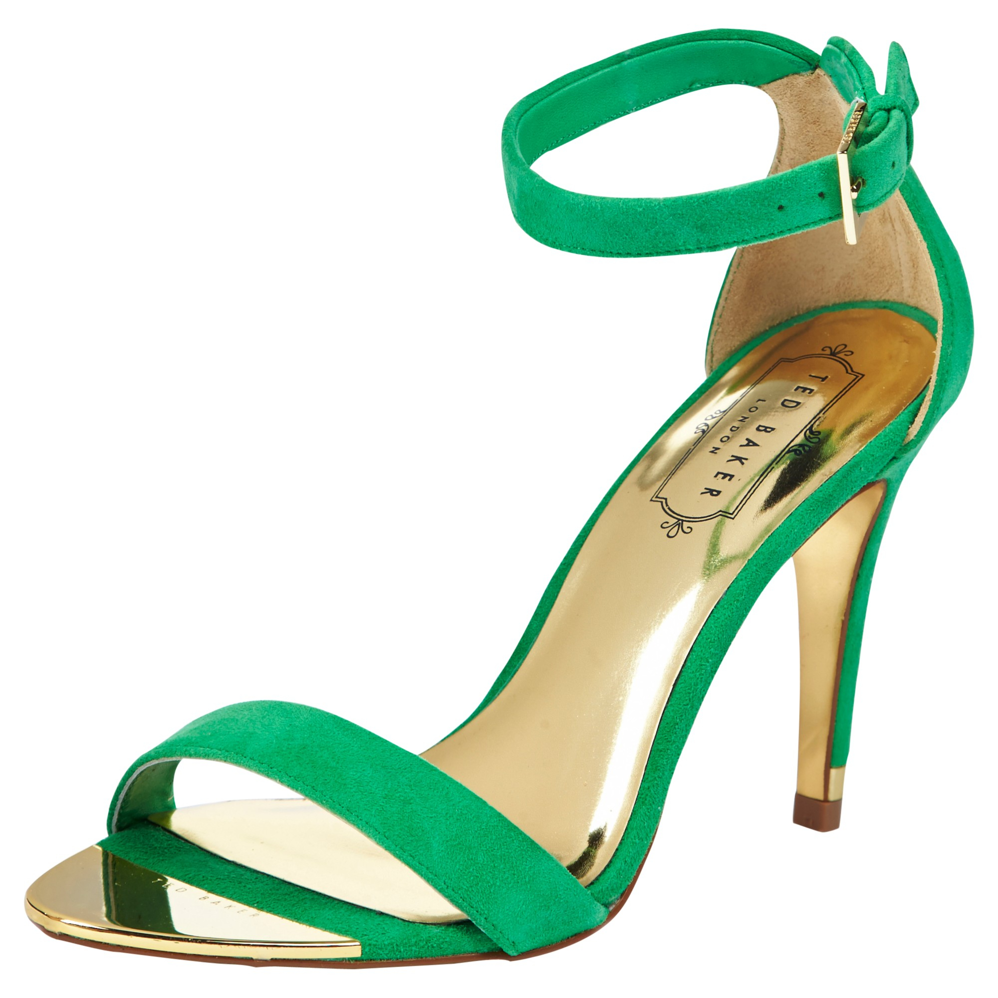 84dbaf0058d4c9 Ted Baker Juliennas High Heeled Sandals in Green - Lyst