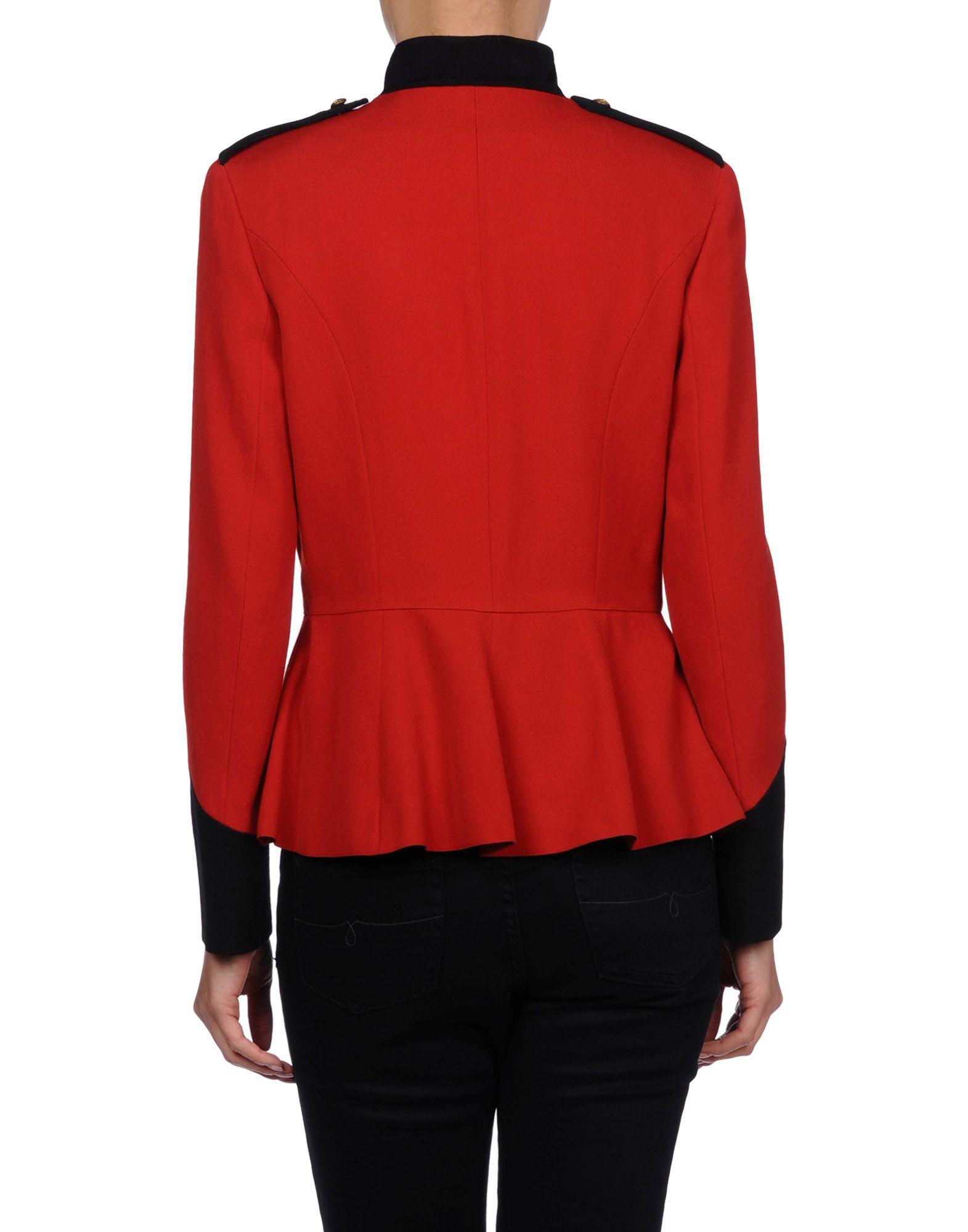 lyst ralph lauren blazer in red. Black Bedroom Furniture Sets. Home Design Ideas