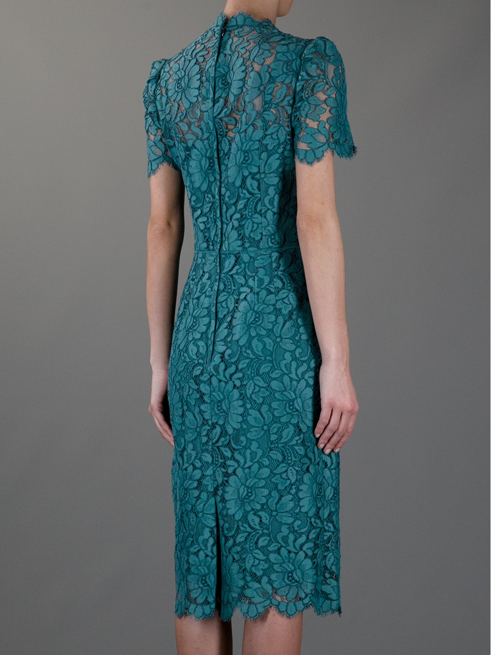 Lyst Dolce Amp Gabbana Lace Dress In Blue