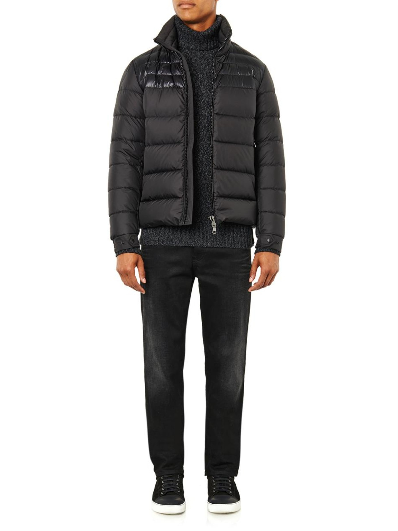 db939e6f7 Lyst - Moncler Dinant Matte And Shine Jacket in Black for Men