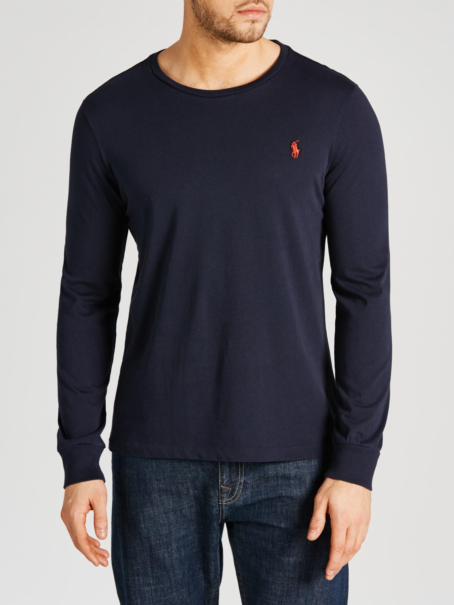 Polo Ralph Lauren Long Sleeve T-Shirt in Blue for Men - Lyst 0dacfe44a398