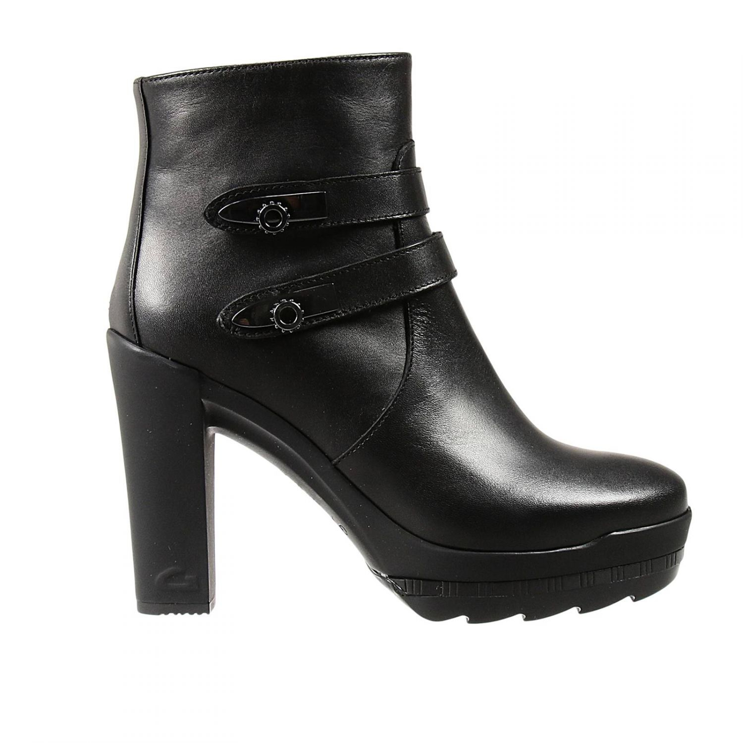 50020a2cbb1 Lyst - Alberto Guardiani Ankle Boots Karina 8+2 Heel Low Boots in Black