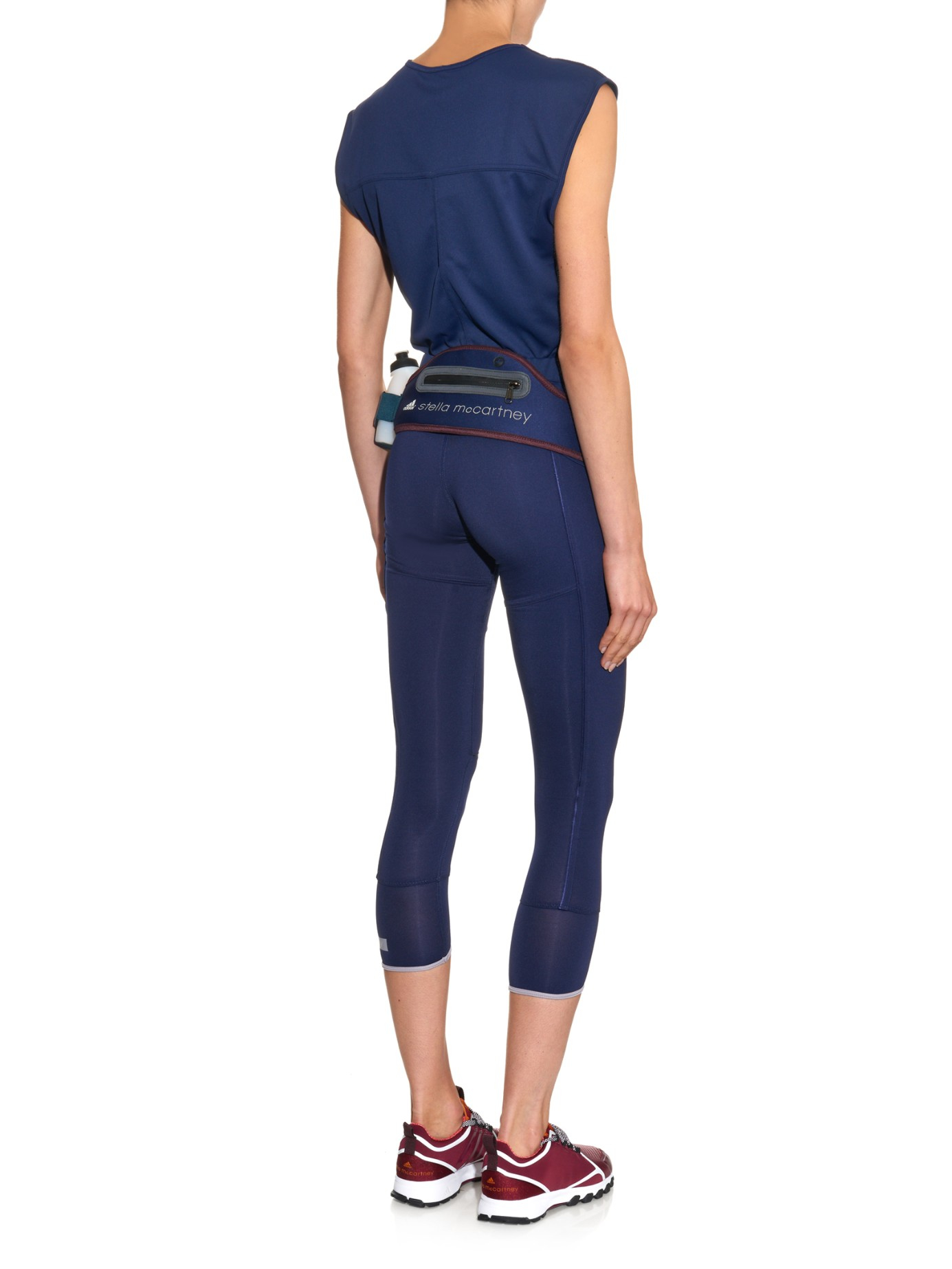 lyst adidas by stella mccartney running belt in blue. Black Bedroom Furniture Sets. Home Design Ideas