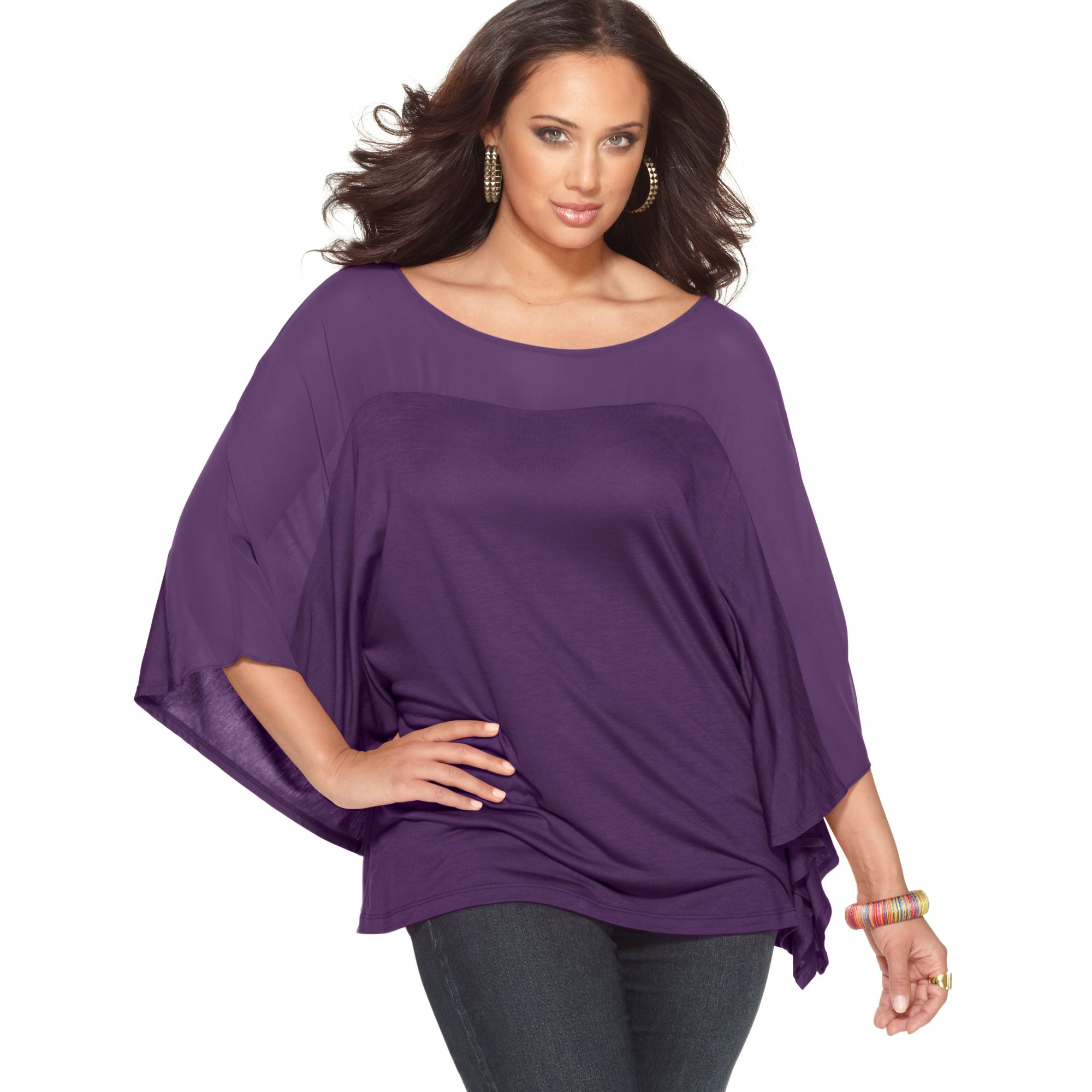 b0fd093be64 Plus Size Sheer Button Up Blouse