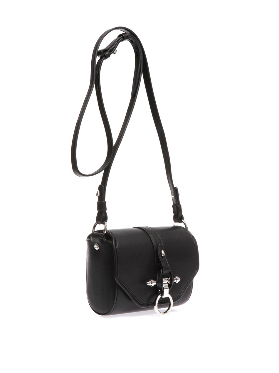 Lyst - Givenchy Obsedia Leather Crossbody Bag in Black 1e2909137e