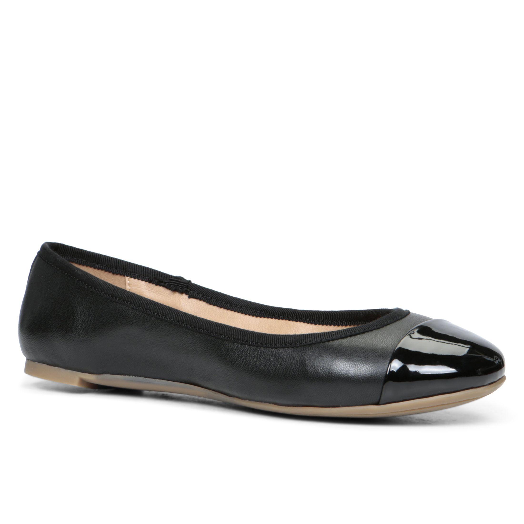 aldo ocaun toe ballerina shoes in black lyst