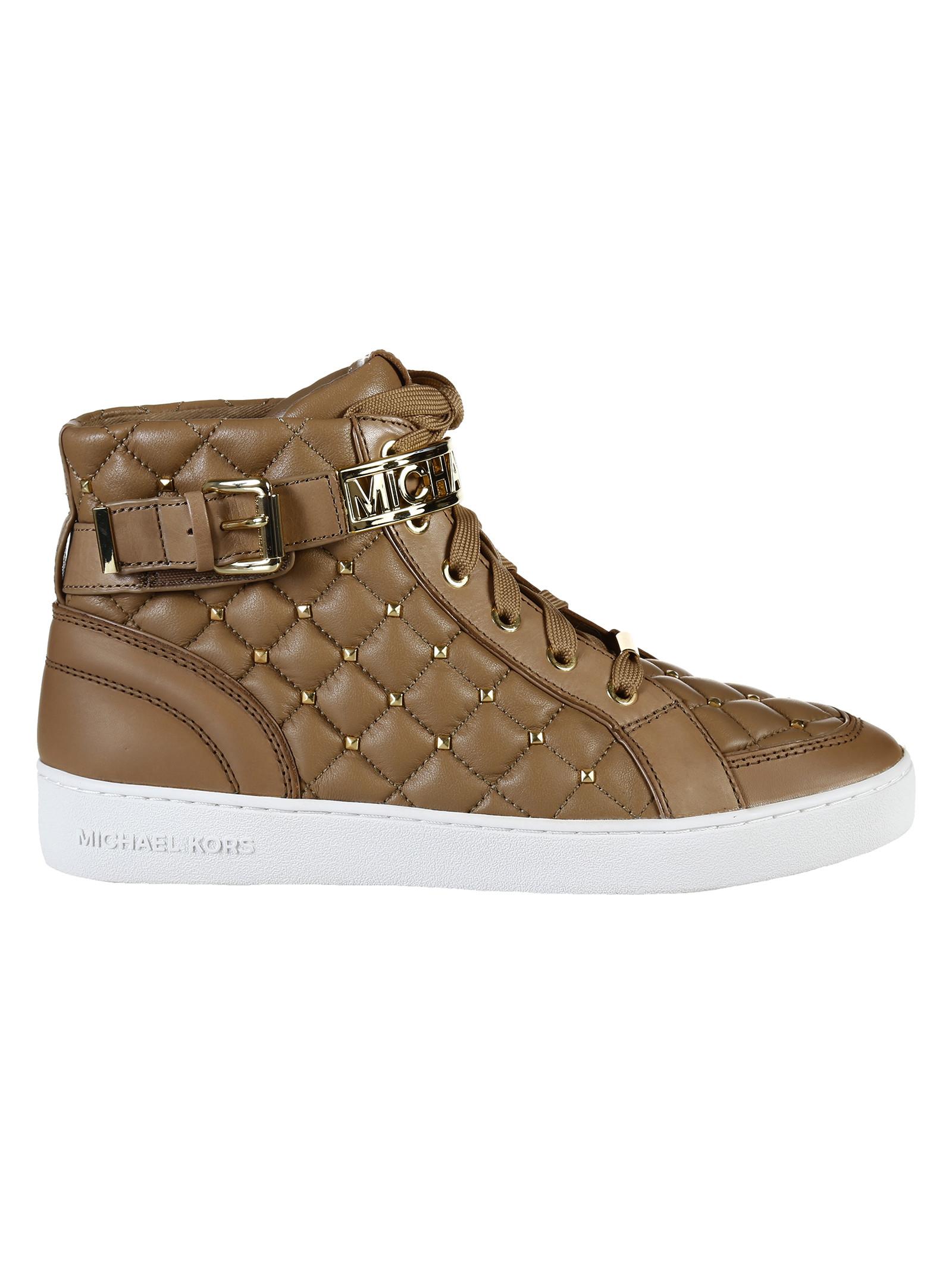 michael kors sneaker essex high top in brown kaki lyst. Black Bedroom Furniture Sets. Home Design Ideas