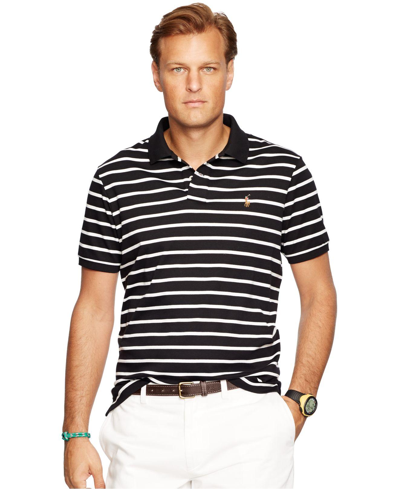 e2a1dae2b9ff Lyst - Polo Ralph Lauren Big   Tall Striped Pima Soft-touch Polo ...