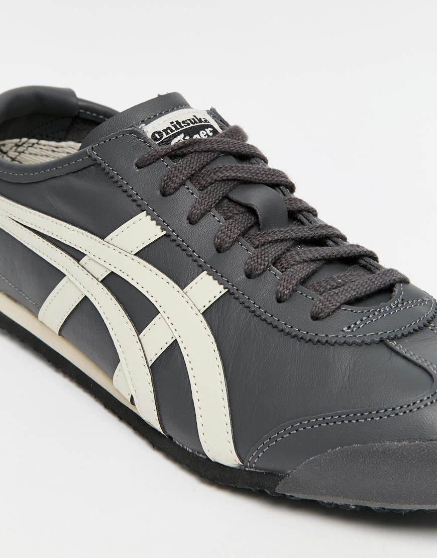 lyst asics onitsuka tiger mexico 66 trainers in gray for men. Black Bedroom Furniture Sets. Home Design Ideas