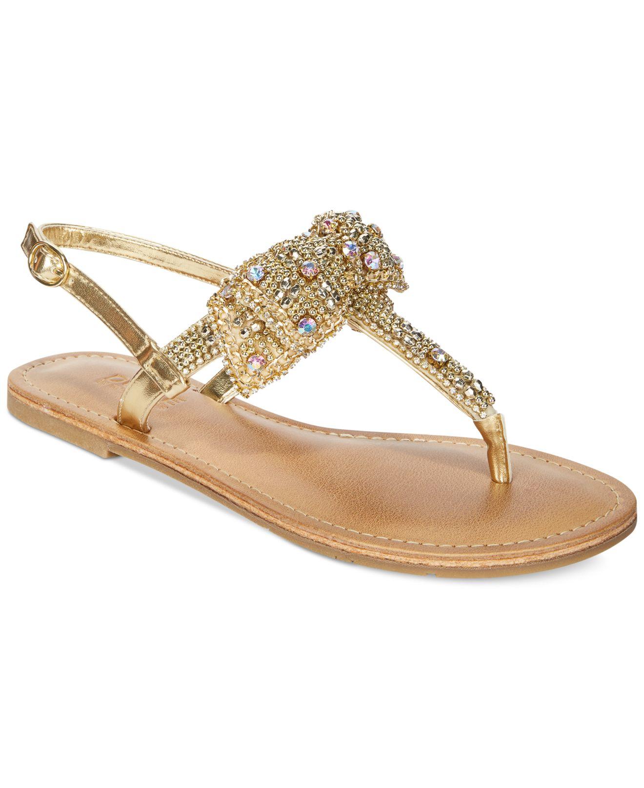 d08fd6641124ac Lyst - Mojo Moxy Dolce By Sienna Rhinestone Bow Flat Thong Sandals ...