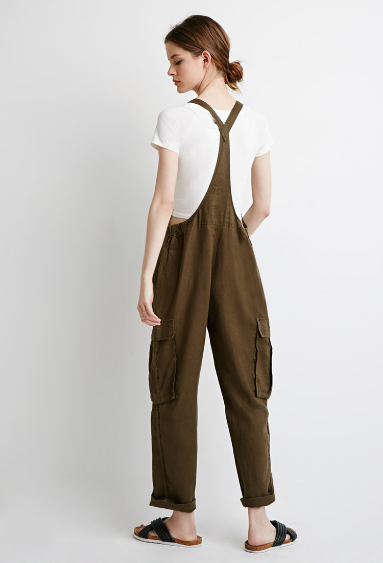 Forever 21 Contemporary Utility Linen Overalls You Ve Been