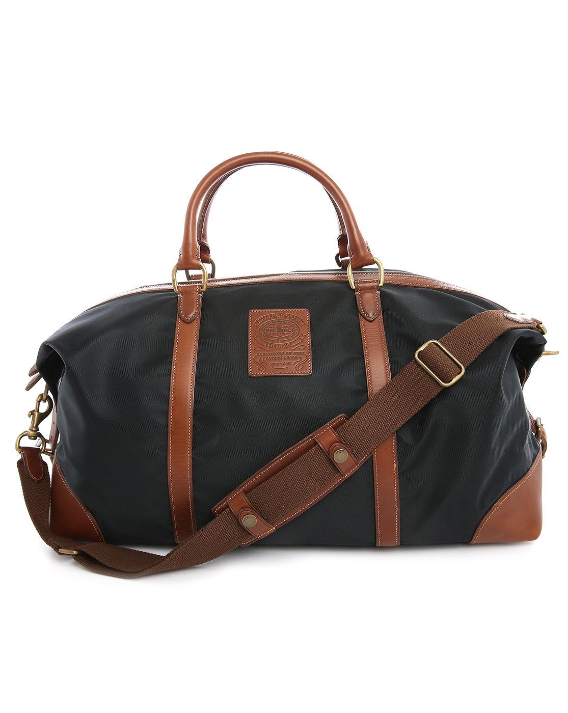 Polo ralph lauren 48H Navy Leather Nylon Bag in Blue for Men (navy ...