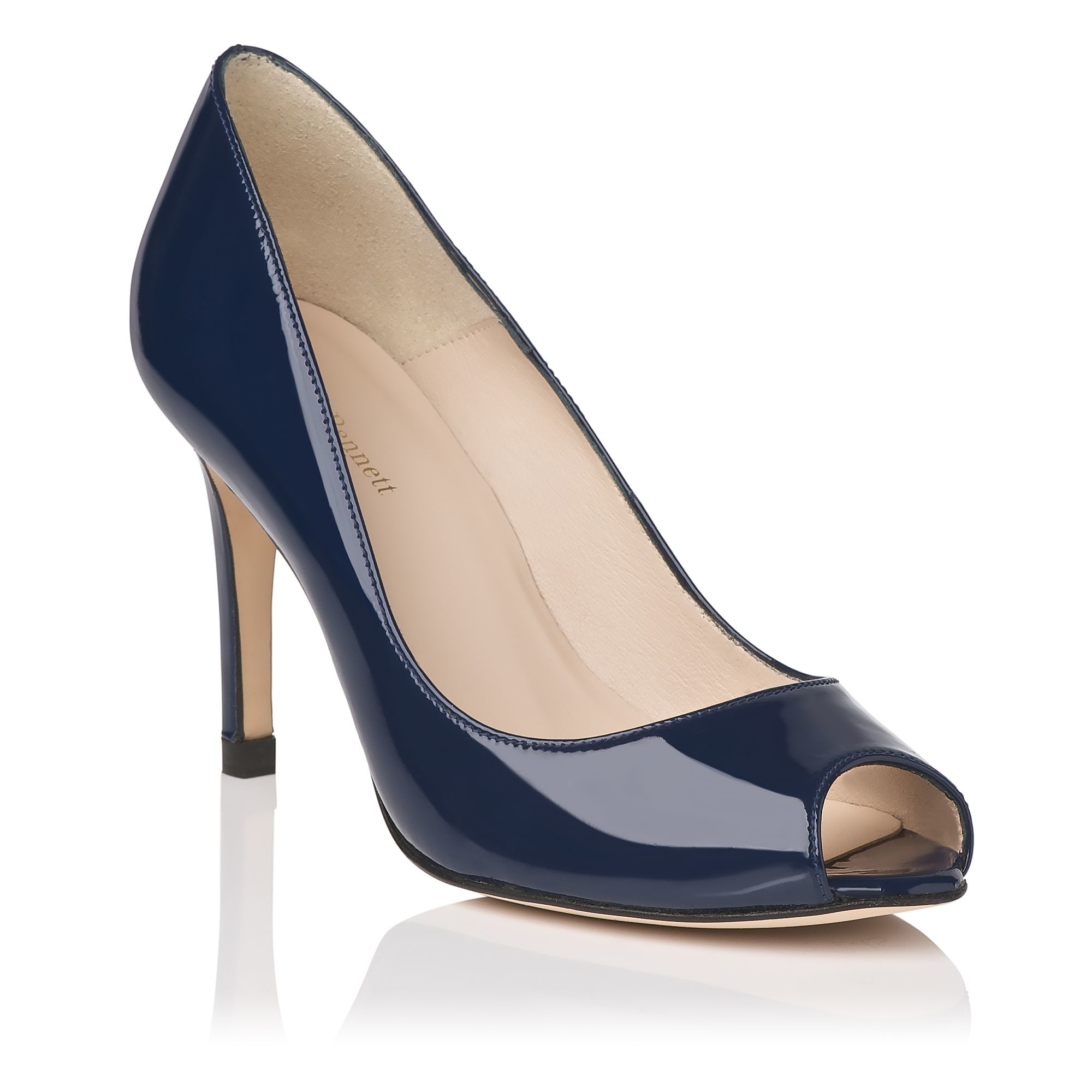 L.K. Bennett Patent Leather Peep-Toe Pumps nicekicks for sale cheap sale with paypal lowest price best wholesale for sale cheap price low shipping fee Frz5U