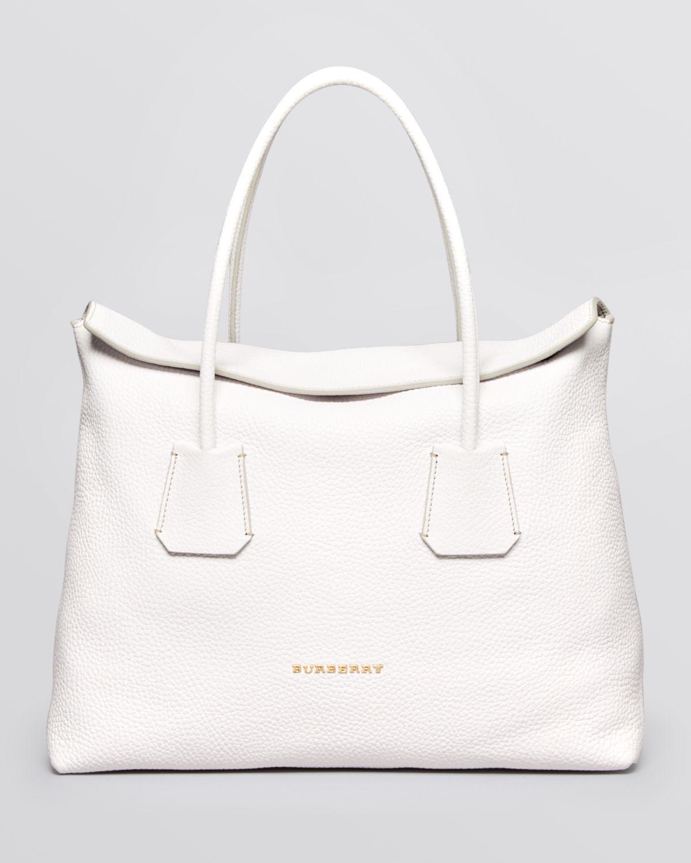 343f21a068 Burberry White Leather Handbag - Foto Handbag All Collections ...