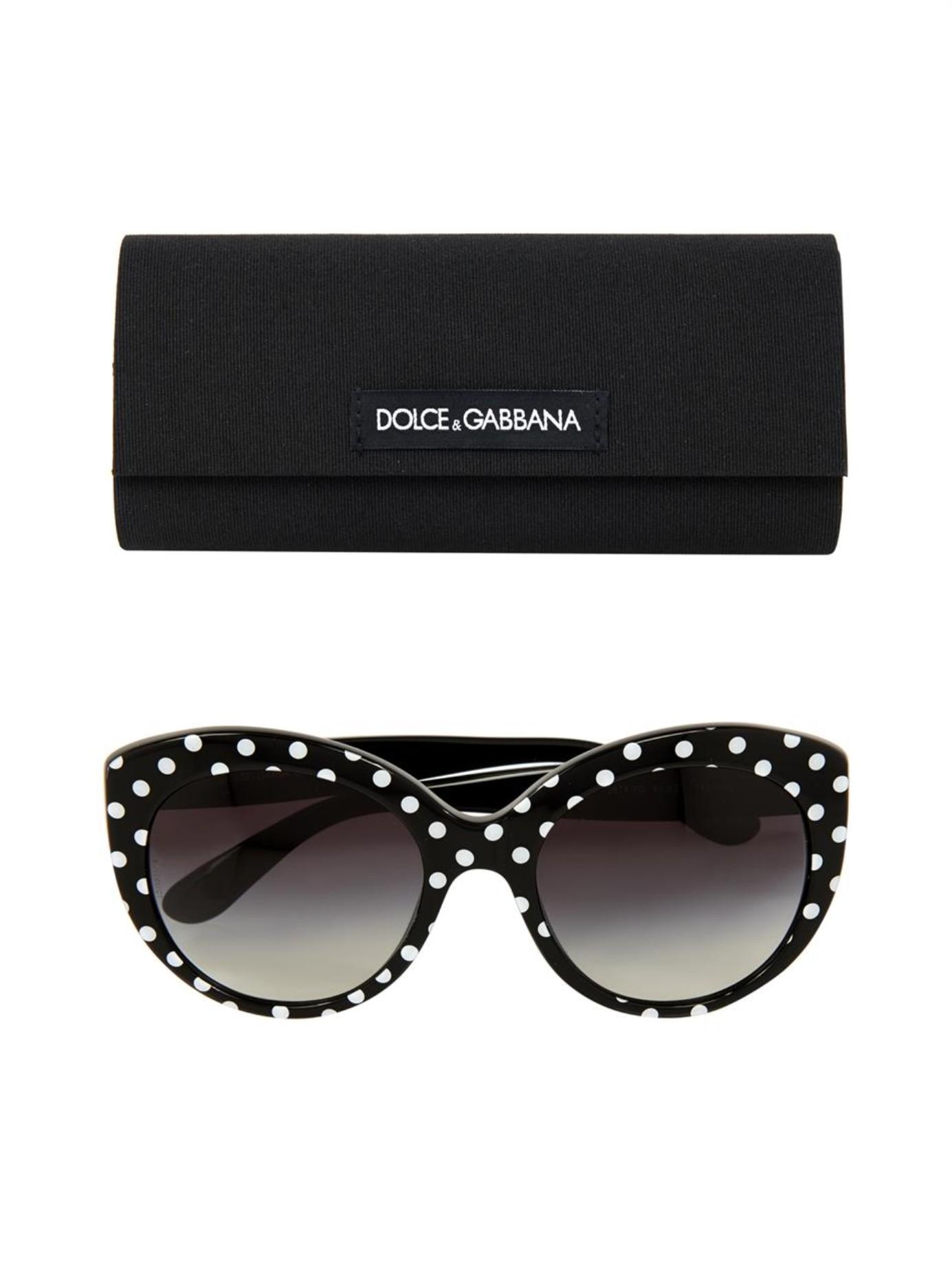 Dolce And Gabbana White Frame Glasses : Dolce & gabbana Polka-Dot Round-Framed Sunglasses in Black ...